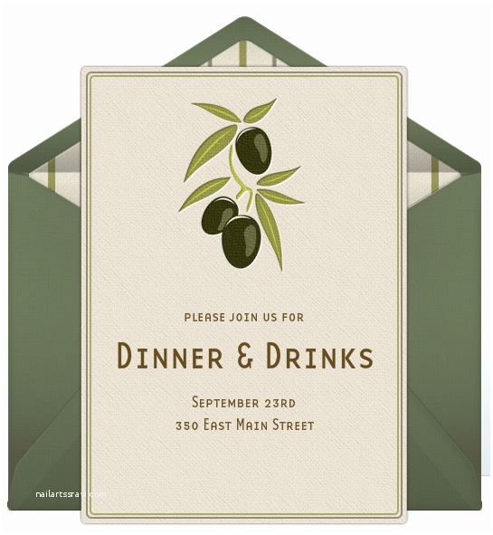 Dinner Party Invitation Template Dinner Party Invitations
