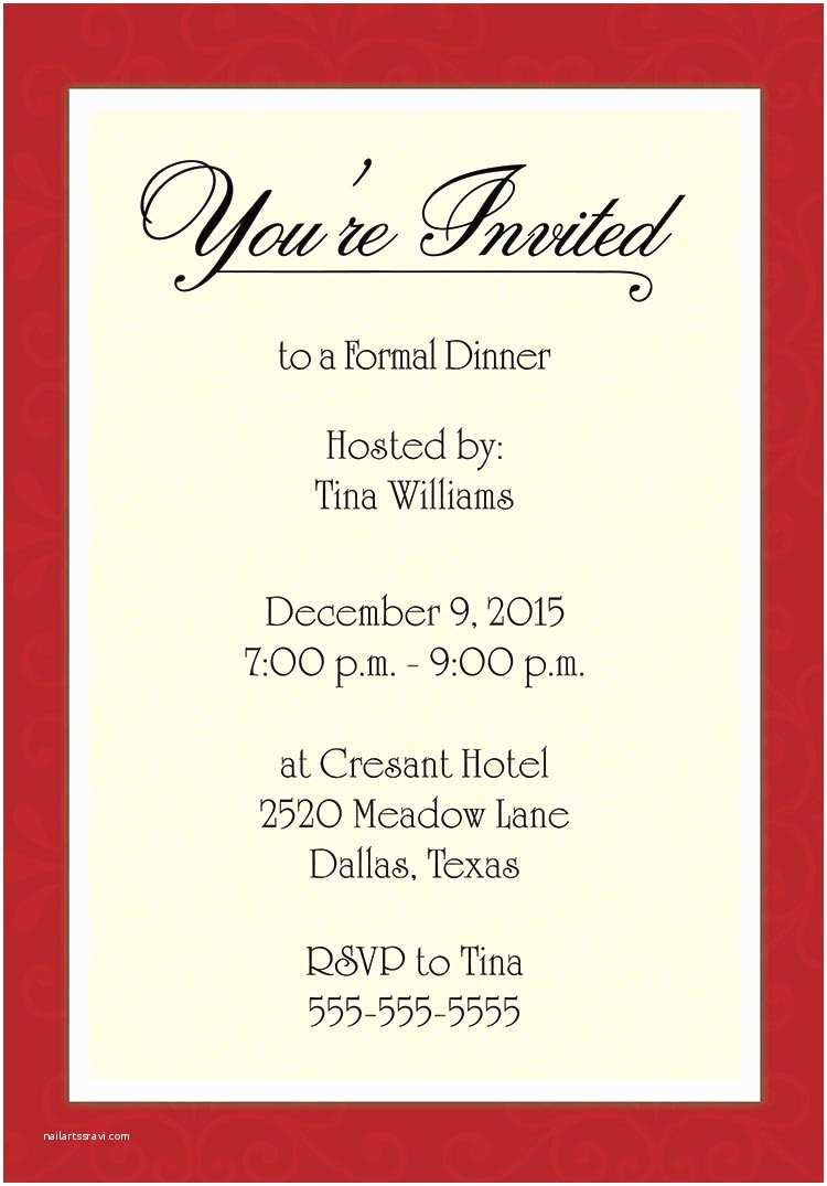 Dinner Party Invitation Template Dinner Party Invitations Templates