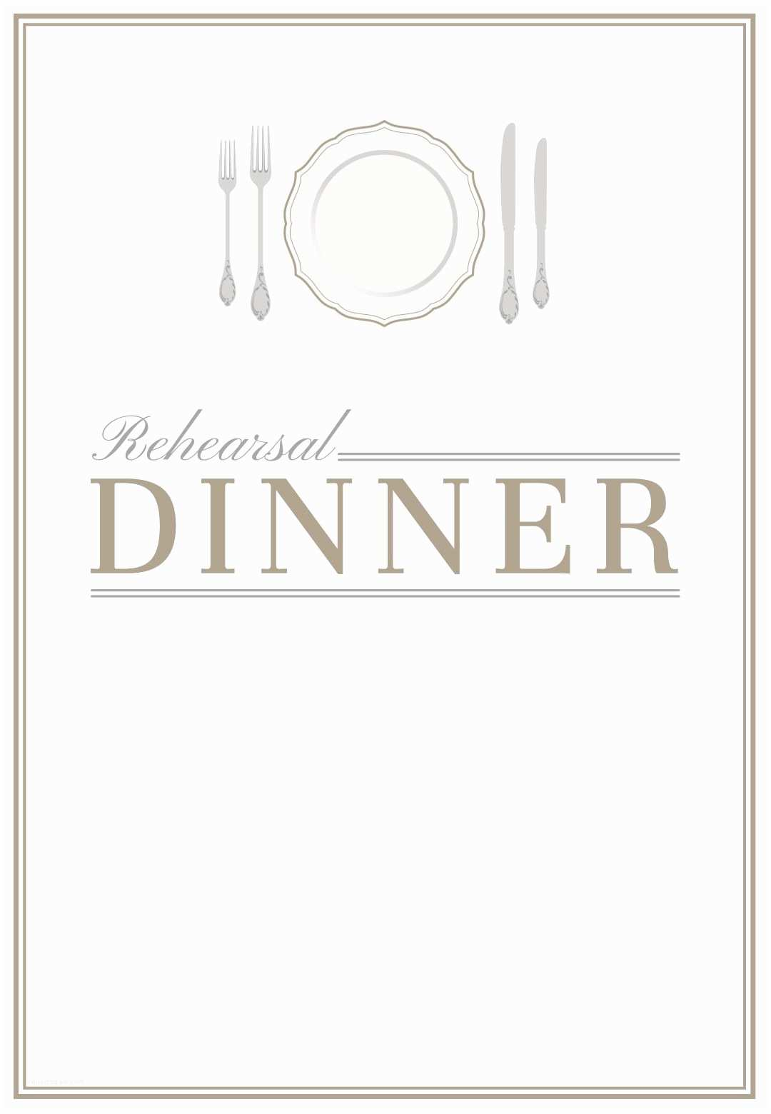 Dinner Party Invitation Template Elegant Setting Free Printable Rehearsal Dinner Party