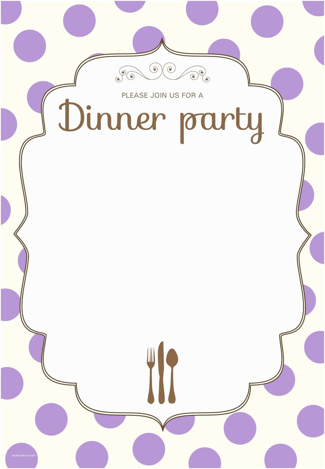 Dinner Party Invitation Template Free Printable Classic Dinner Party Invitation