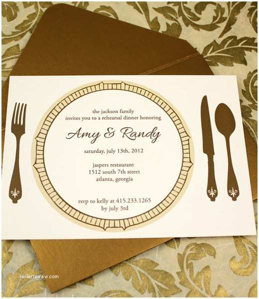Dinner Party Invitation Template Invitation Template – Elegant Rehearsal Dinner Invitation
