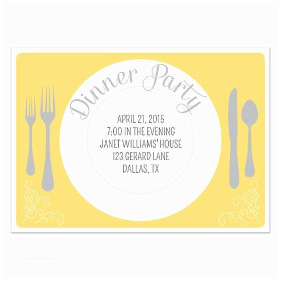 Dinner Party Invitations Dinner Party Invitation Template
