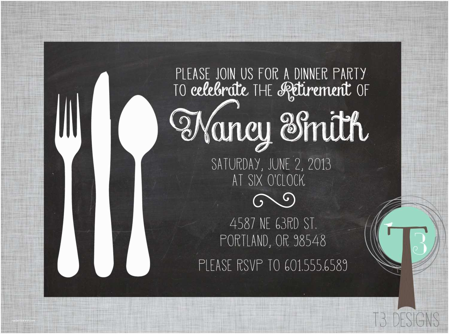 Dinner Party Invitations Retirement Party Invitation Dinner Party Invitation