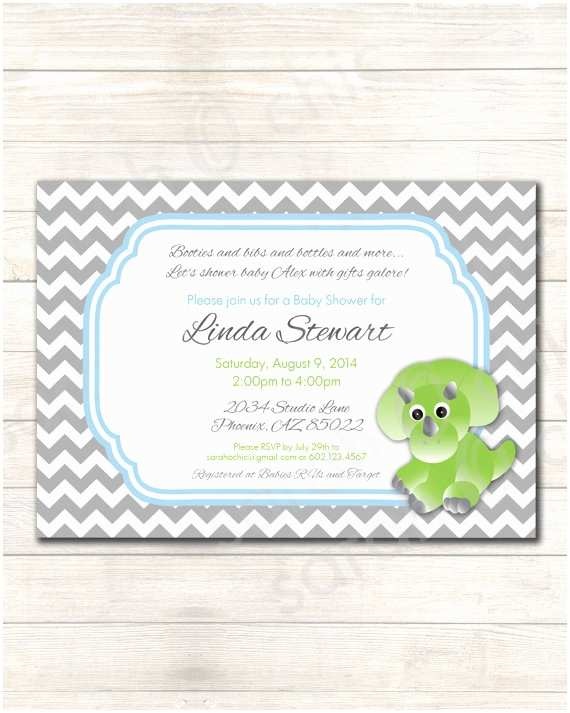 Dinosaur Baby Shower Invitations Dinosaur Baby Shower Invitation Colors Customizable