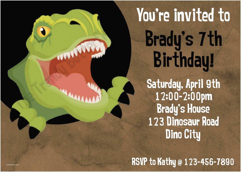 Dinosaur Birthday Invitations T Rex Invitation Party