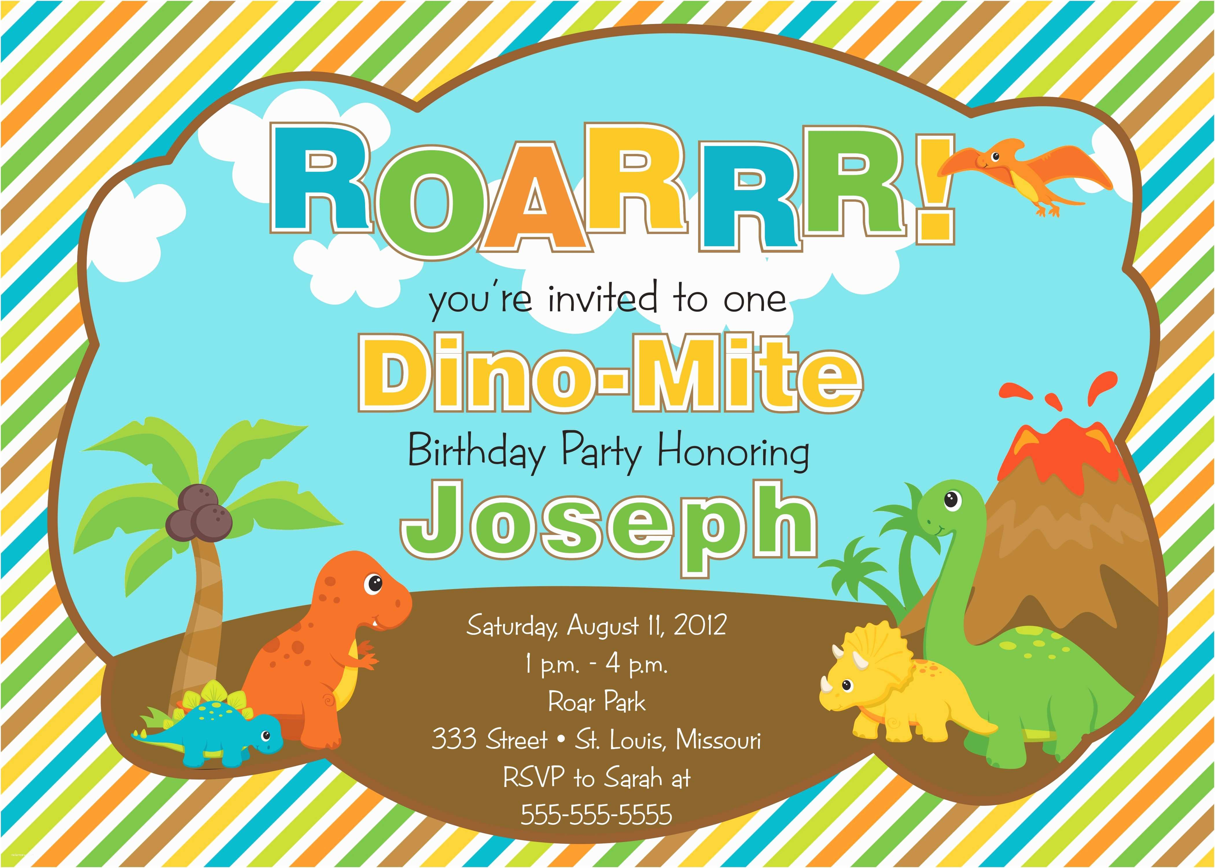 Dinosaur Birthday Invitations Invitations for Every Occassion