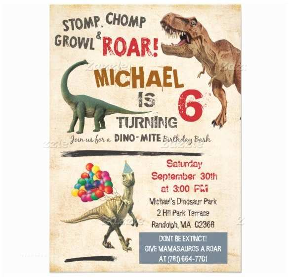 Dinosaur Birthday Party Invitations 30 Dinosaur Birthday Invitation Templates Psd Ai