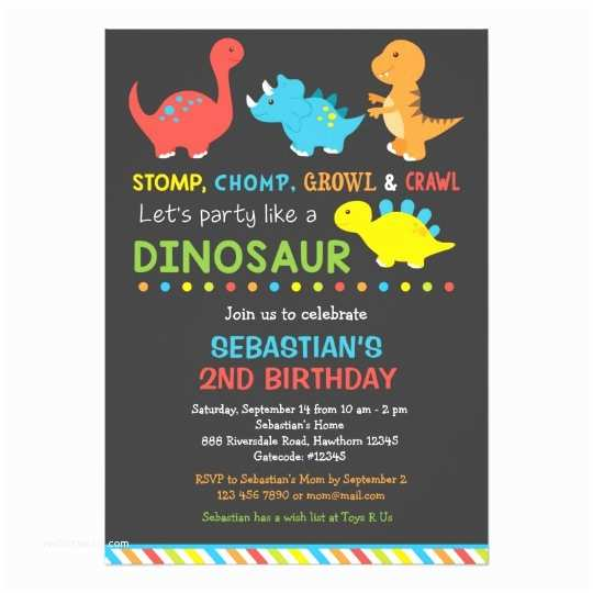 Dinosaur Birthday Party Invitations Dino Birthday Invitation Dinosaur Invitation
