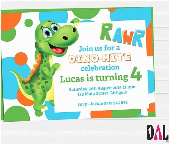 Dinosaur Birthday Party Invitations Dinosaur Birthday Party Invitations Template