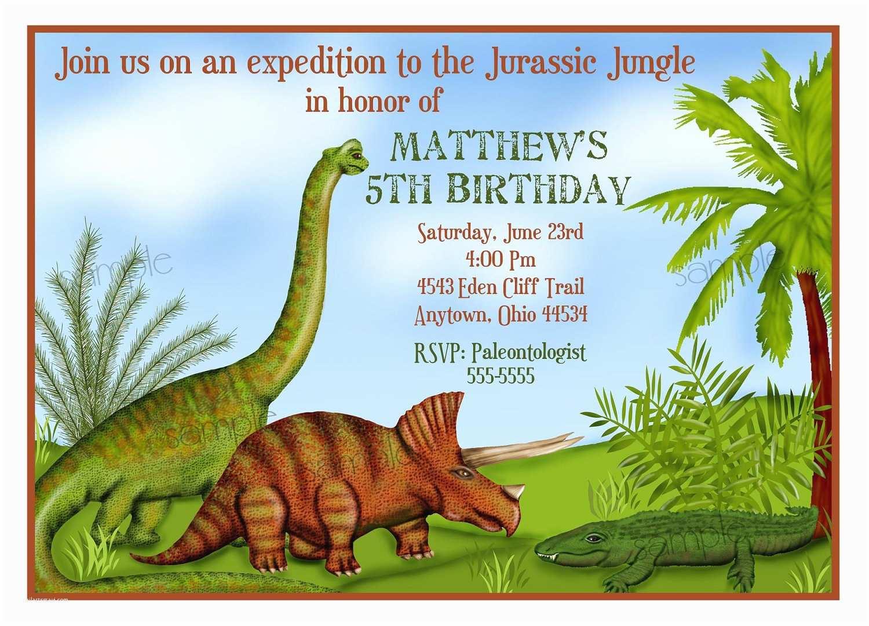 Dinosaur Birthday Party Invitations Dinosaur Invitations Dinosaur Birthday Party Personalized
