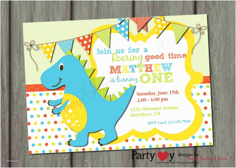 Dinosaur Birthday Party Invitations Train