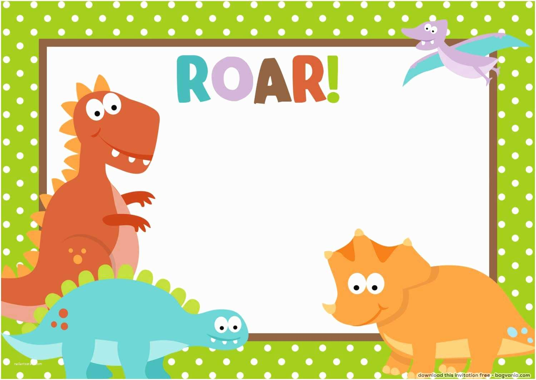 Dinosaur Birthday Party Invitations Free Bagvania