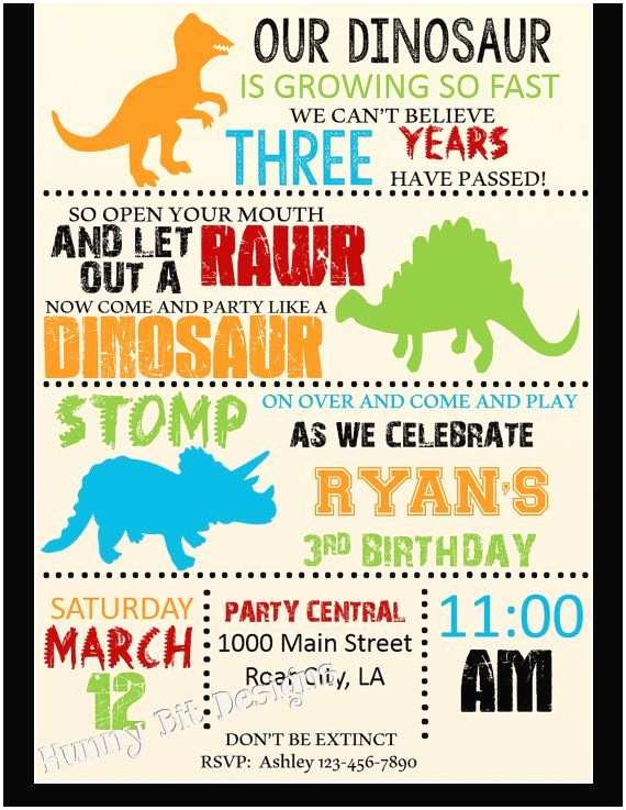 Dinosaur Party Invitations 25 Best Dinosaur Birthday Invitations Ideas On Pinterest