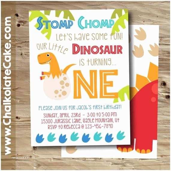 Dinosaur Party Invitations 25 Best Ideas About Dinosaur First Birthday On Pinterest