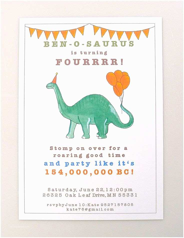 Dinosaur Party Invitations 25 Best Ideas About Dinosaur Invitations On Pinterest
