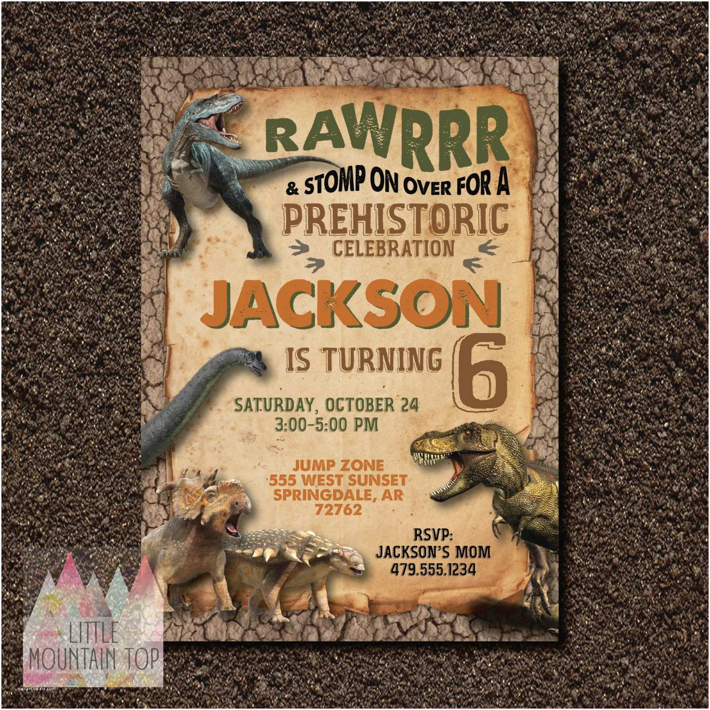 Dinosaur Party Invitations Kitchen & Dining