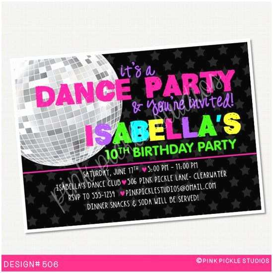 Disco Party Invitations 42 Best Images About Party Disco On Pinterest
