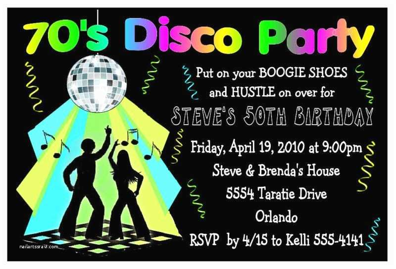 Disco Party Invitations 70s Disco Party Invitations for Birthday Etc Digital
