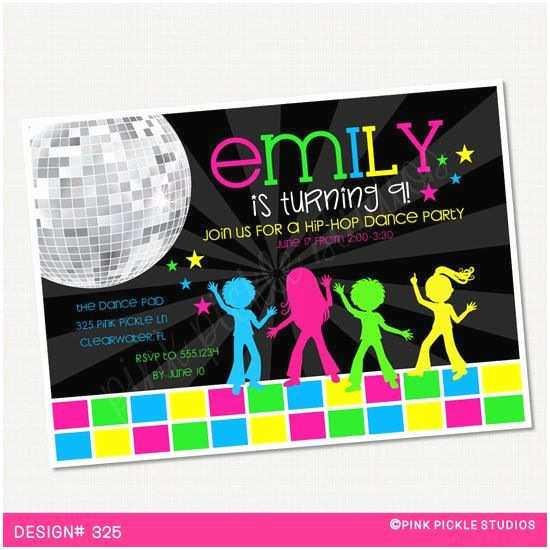 Disco Party Invitations Best 25 Dance Party Birthday Ideas On Pinterest