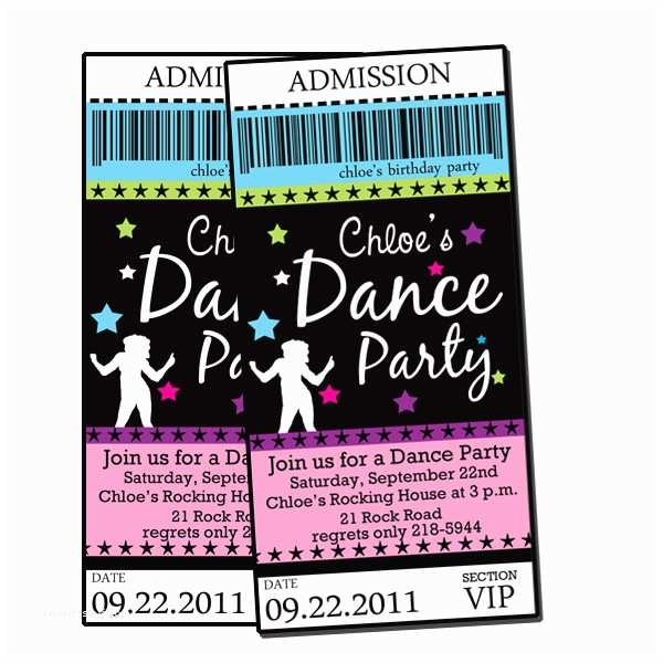 Dance Party Invitations Printable Free