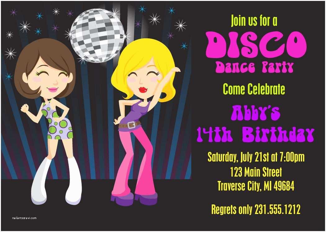 Disco Party Invitations Dance Party Invitation 70s Disco Invitations Printable