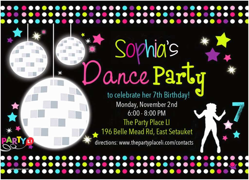 Disco Party Invitations Dance Party Invitations Printable Free