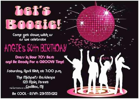 Disco Party Invitations Disco Dance Birthday Party Invitation by Fabpartyprints