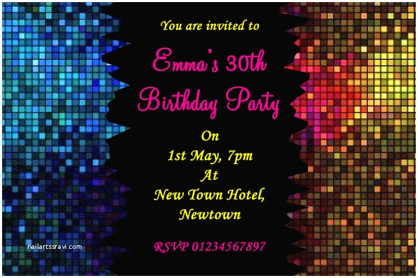 Disco Party Invitations Disco Party Invitation