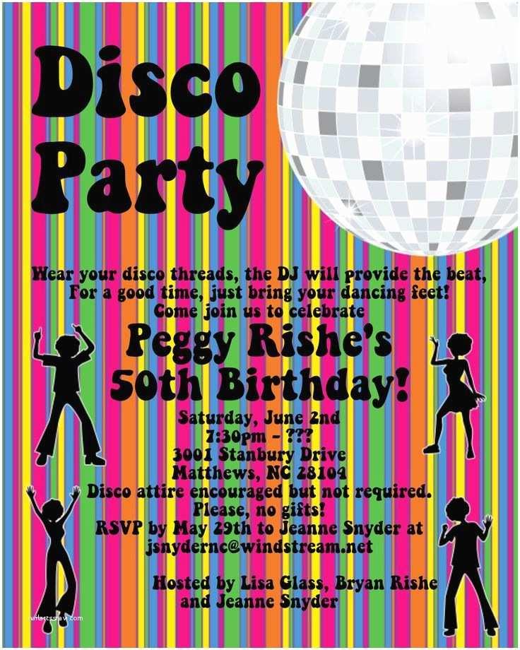 Disco Party Invitations Disco Party Invitations 70 S Disco Dance Party Invitation