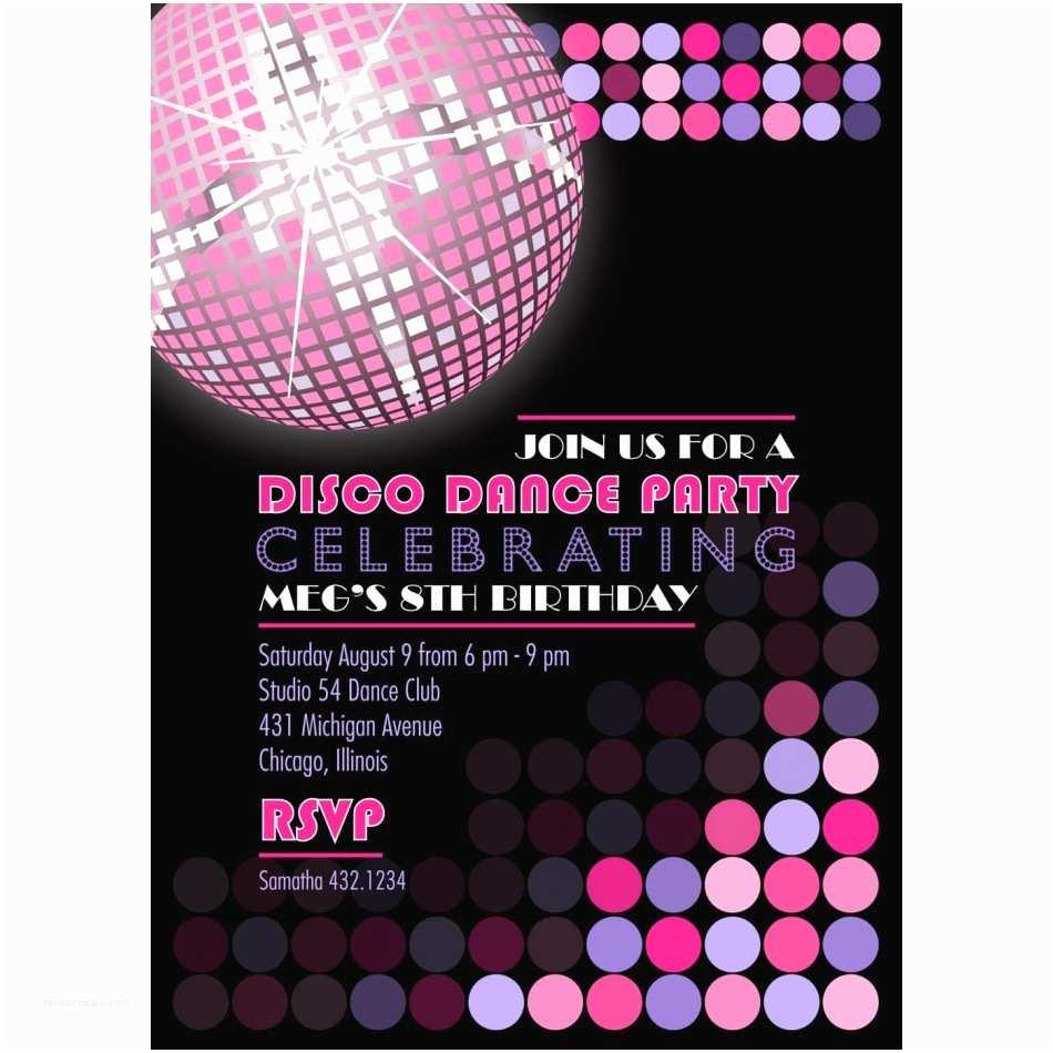 Disco Party Invitations Disco Party Invitations