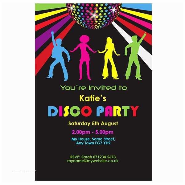 Disco Party Invitations Disco Party Invitations Sansalvaje