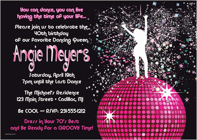 Disco Party Invitations Disco Party Invite Cloudinvitation
