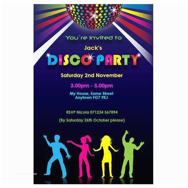 Disco Party Invitations Disco theme Party Invitations A Birthday Cake