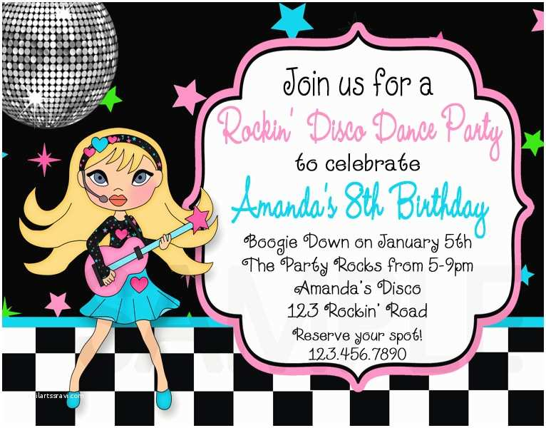 Disco Party Invitations Free Printable Birthday Invitations for Adult