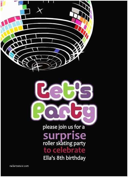 Disco Party Invitations Free Printable Disco Party Invitations Templates