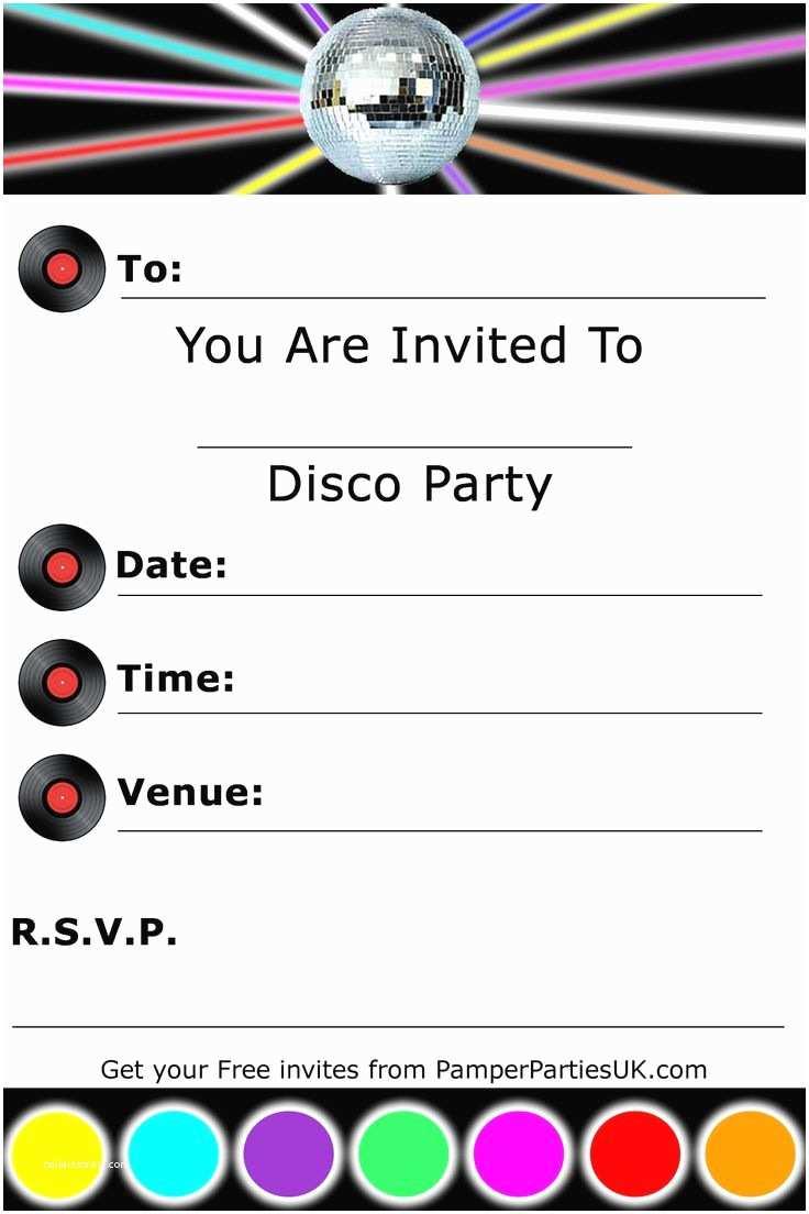Disco Party Invitations Invitations
