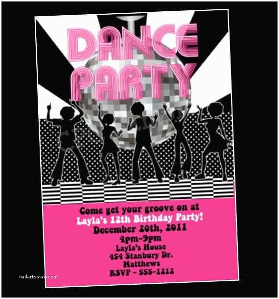 Disco Party Invitations Items Similar to Disco Dance Party Birthday Invitation On Etsy
