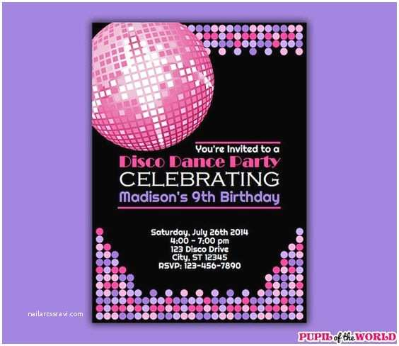 Disco Party Invitations Printable Invitations Discos and Dance Parties On Pinterest