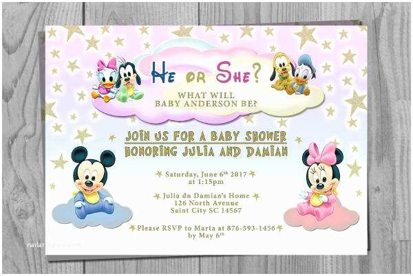 Disney Baby Shower Invitations 11 Baby Shower Invitation Templates Download