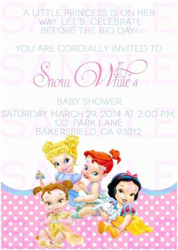 Disney Baby Shower Invitations Baby Shower Invitation Princess Disney Babies by