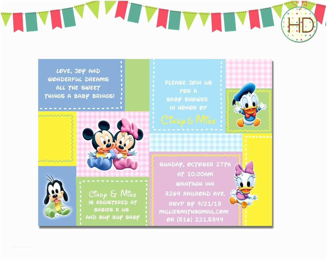 Disney Baby Shower Invitations Disney Baby Shower Invitations Templates