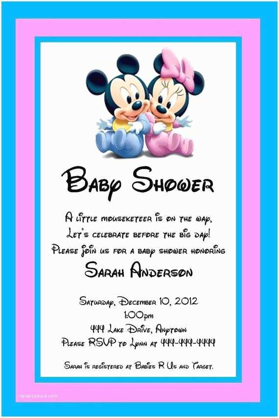 Disney Baby Shower Invitations Disney Baby Shower Invitations Templates