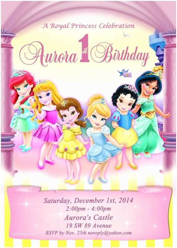 Disney Birthday Invitations 17 Best Ideas About Princess On