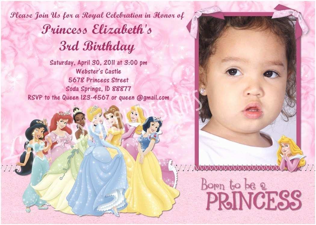 disney princess sample invitation