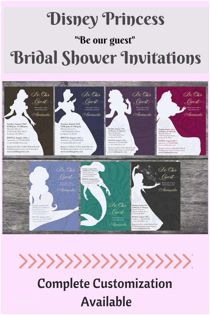Disney Bridal Shower Invitations Best 25 Disney Bridal Showers Ideas On Pinterest