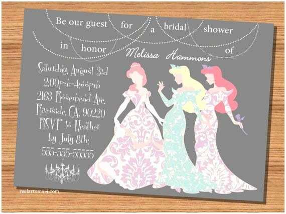 Disney Bridal Shower Invitations Despedida De soltera Princesas Disney