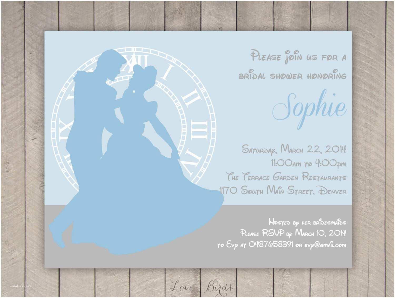 Disney Bridal Shower Invitations Disney Bridal Shower Invitations 25 Best Cinderella