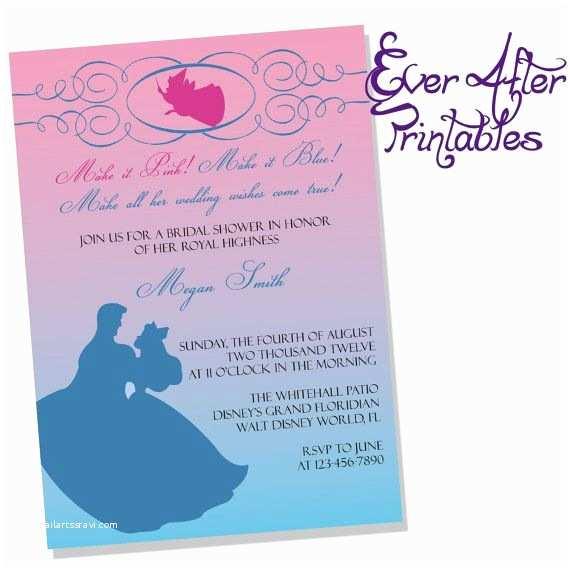Disney Bridal Shower Invitations Sleeping Beauty Inspired Disney Bridal Shower or Birthday
