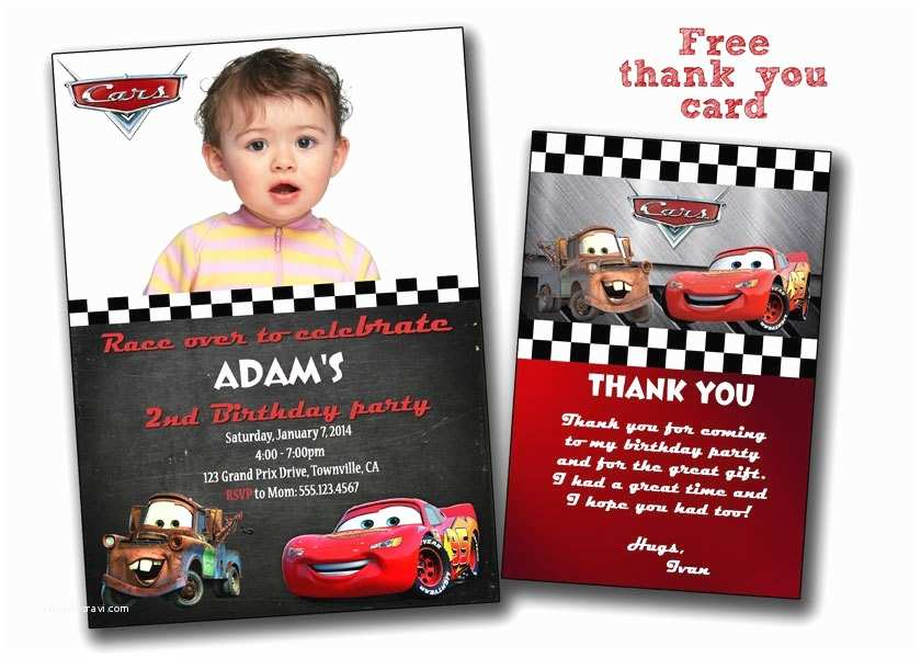 Disney Cars Birthday Invitations Pixar Cars Printable Birthday