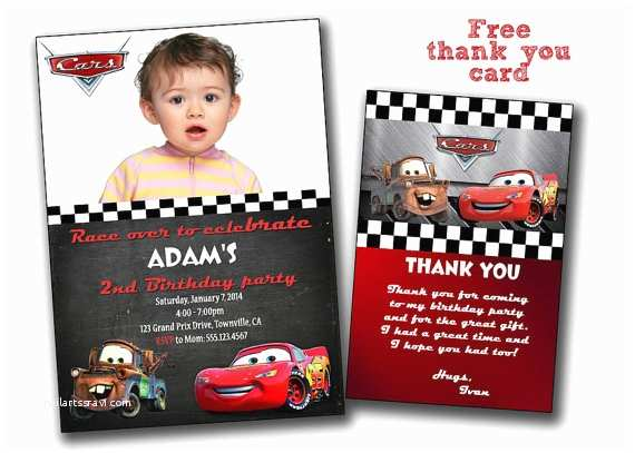 Disney Cars Birthday Invitations Invitation
